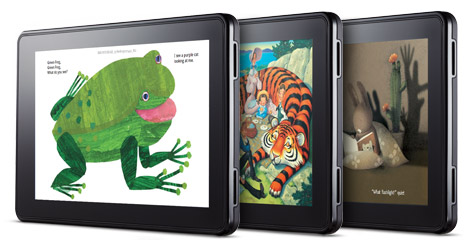 Kindle Fire with Children's Books